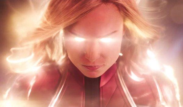 Carol Danvers energized in Captain Marvel