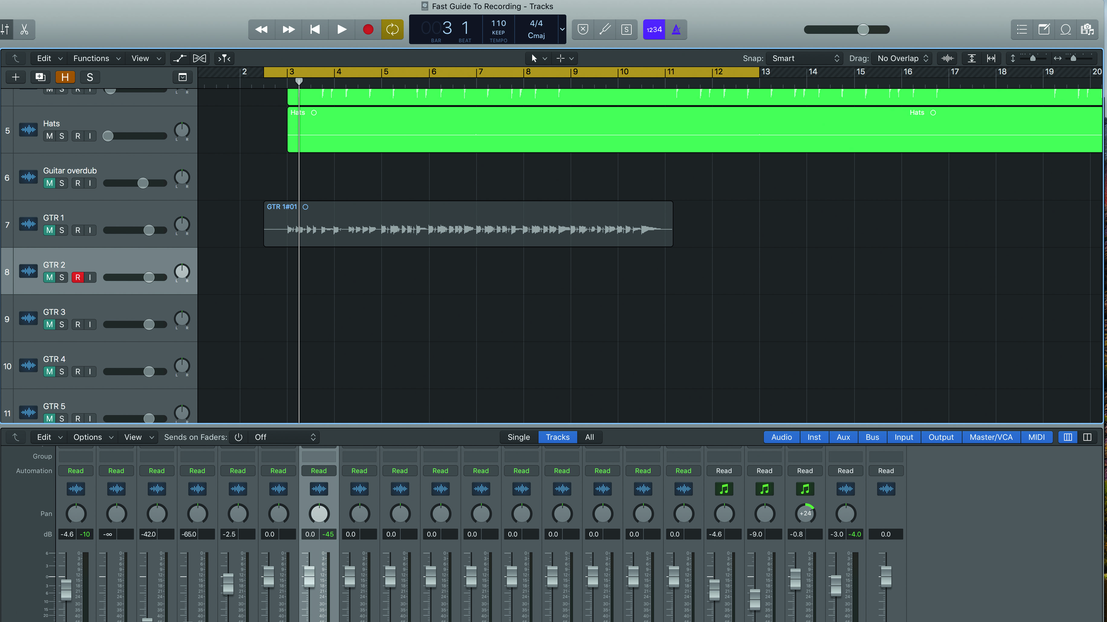 How to 'comp' multiple recordings onto one track | MusicRadar