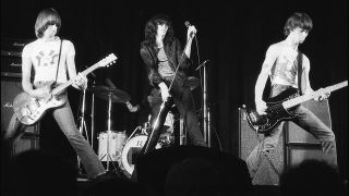 A shot of Ramones live in 1976