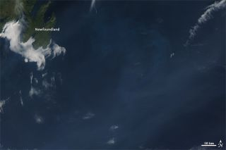 NASA's Aqua satellite took this image of smoke from wildfires in the northwest U.S. over the Atlantic on Sept. 19.
