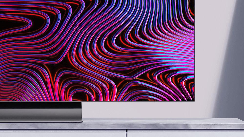 A close-up shot of the Vizio OLED TV
