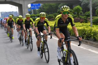 Matteo Trentin (Mitchelton-Scott) in action at the Tour of Guangxi