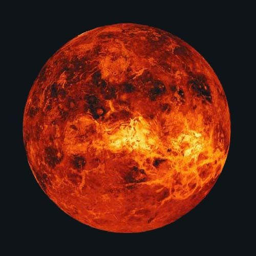 Venus The Hot Hellish Volcanic Planet Space