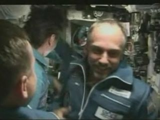 Richard Garriott in space. At last