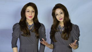 This creepy female android can blink and fidget
