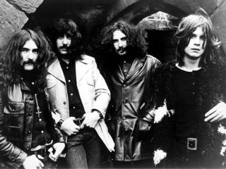 Sabbath in, um, happier times, Iommi (second from left) and Osbourne (right)