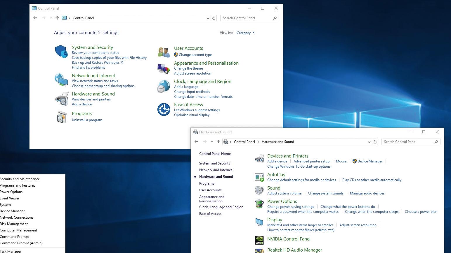 How to use Windows 10's Control Panel   TechRadar