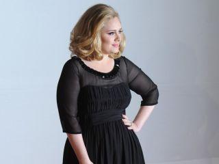 Adele arrives at the Brit Awards 2012.