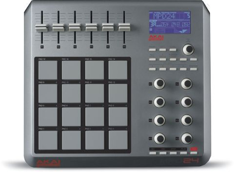 The MPD24 takes its design cues from Akai's MPC range of samplers