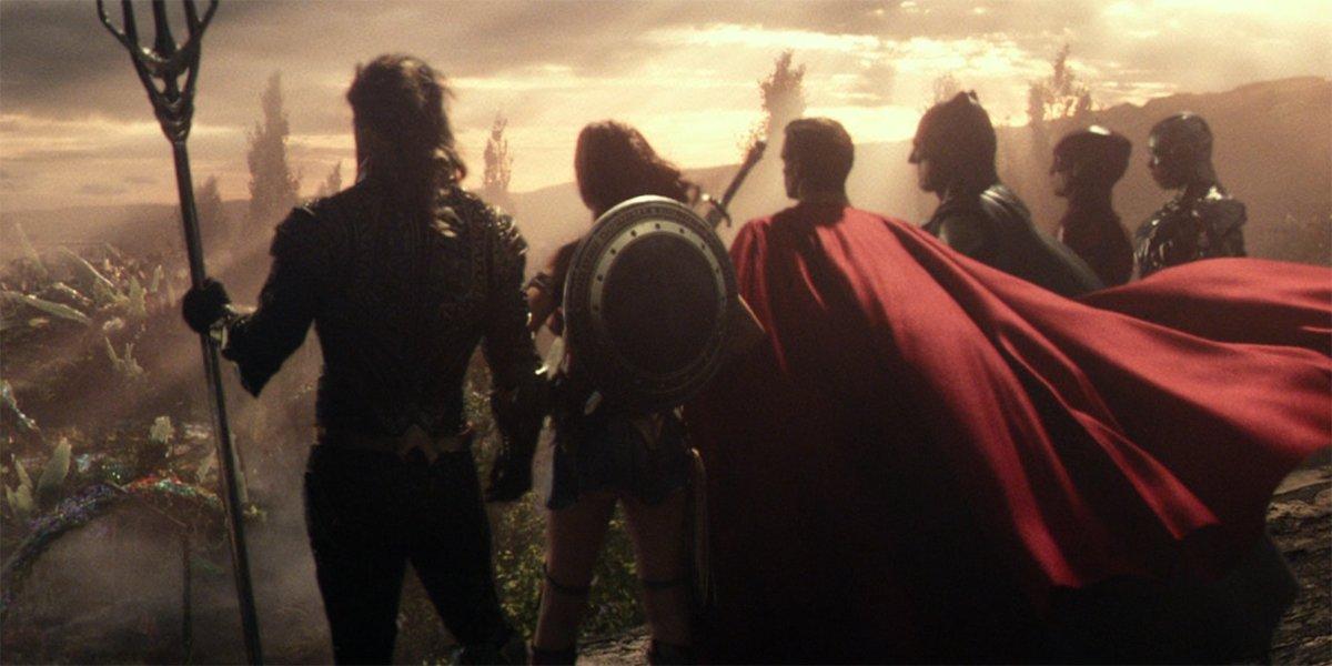 DC Extended Universe Justice League team shot