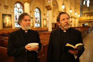 Father Andrew (Kevin Corrigan) and Father James (Thomas Jay Ryan) in 'Scenes From An Empty Church.'