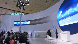 pave Creates Siemens booth with coolux Pandoras Box