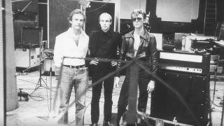 Fripp, Eno and Bowie at Hansa Studios