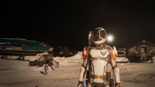 Elite Dangerous Odyssey Players Walking On A Planetary Surface