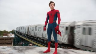 A promo image for Spiderman Homecoming