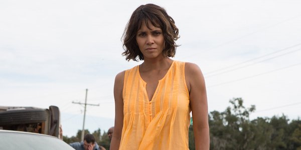 Halle Berry Kidnap Orange Blouse