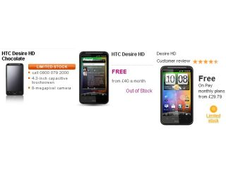 The HTC Desire HD - is there a shortage?