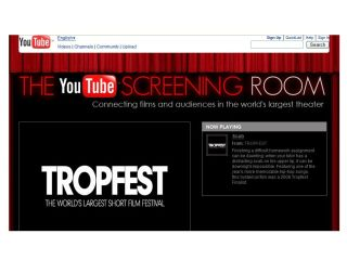 YouTube Screening Room, showing feature-length movies
