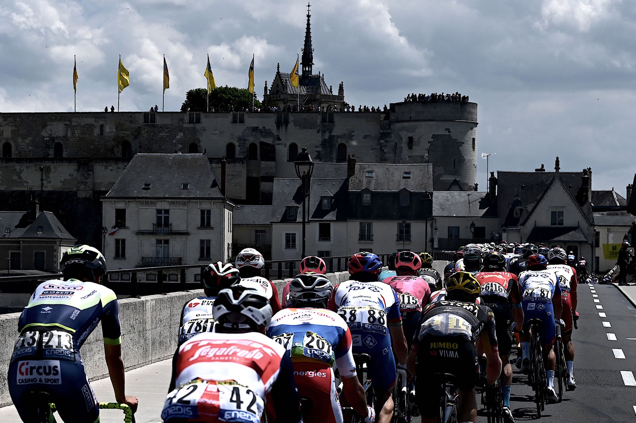 Beautiful castles on the Loire river on stage six of the Tour de France 2021
