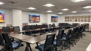 ClearOne's Beamforming Mic Array Ceiling Tile and CONVERGE Pro 2 48V were chosen to upgrade the conferencing system in a large, uniquely shaped room at the Legal Aid Bureau of Buffalo.