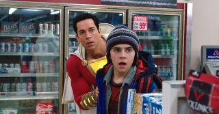 Zachary Levi and Jack Dylan Grazer in Shazam