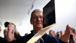 Tim Cook and a 12-inch MacBook
