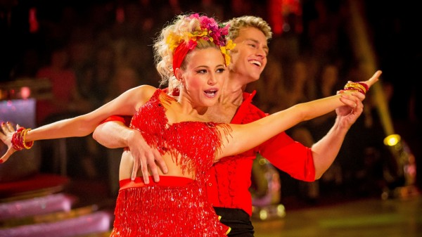 A picture of Pixie Lott on Strictly