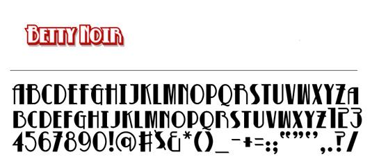 Free Retro fonts: Betty Noir