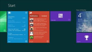 Windows 9 Live Tile Start Screen
