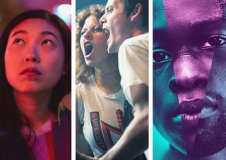 A24s The Farewell, Green Room, Moonlight posters.