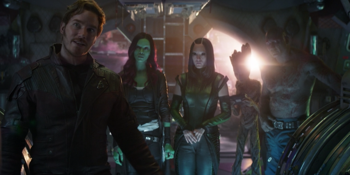 The Guardians of the Galaxy in Avengers: Infinity War