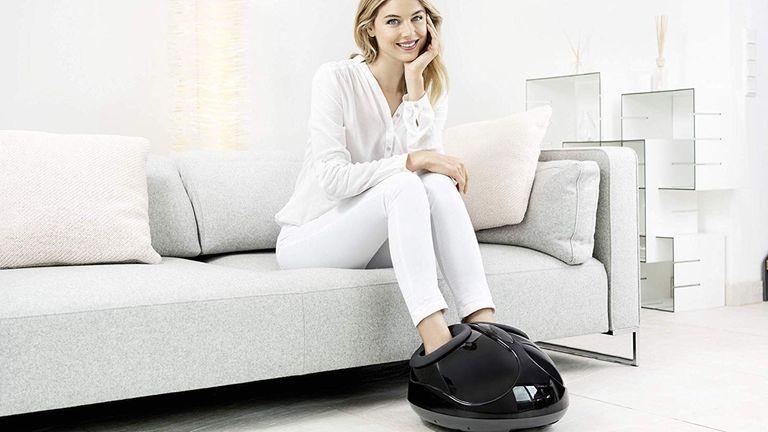 Woman using Beurer FM90 Foot Massager