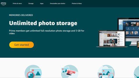Amazon Photos' homepage