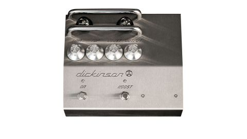 There are controls for gain, tone, boost level and output, with a second footswitch for the D1's boost function