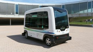 The EZ10 self driving shuttle