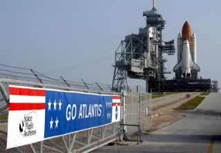After Weather Delays, Space Shuttle Atlantis Reaches Launch Pad