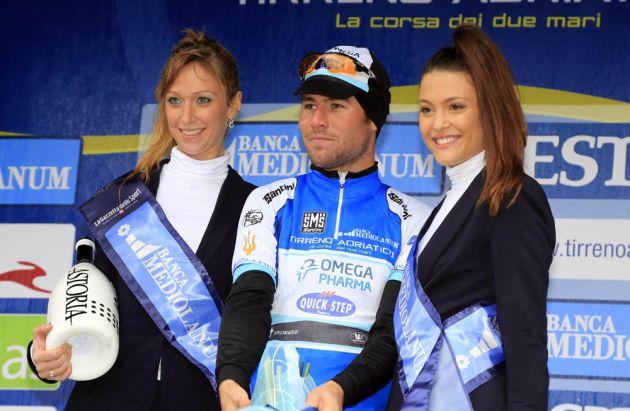 Mark Cavendish in lead, Tirreno-Adriatico 2013, stage one