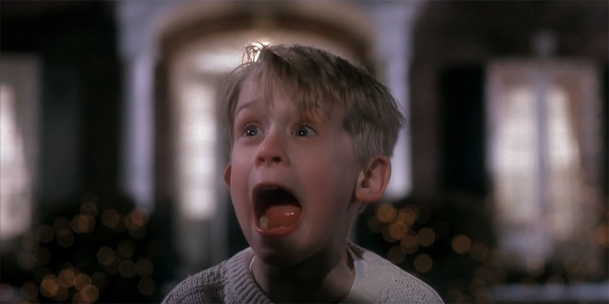Kevin screaming in Home Alone