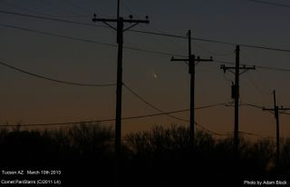 Comet Pan-STARRS Over Tucson, Arizona