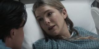 lily rabe's doris in a hospital bed on american horror story: double feature