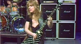 Randy Rhoads performs live with Ozzy Osbourne
