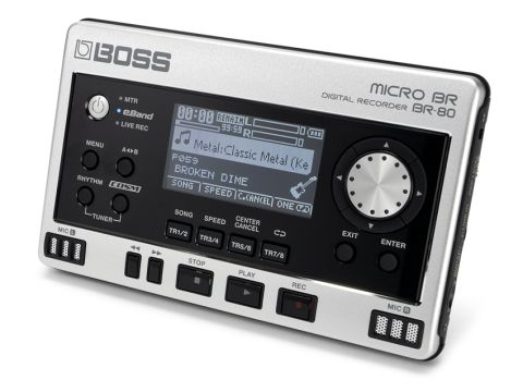 The BR-80 Digital Recorder is so easy to use that you'll be recording tracks in a matter of minutes.