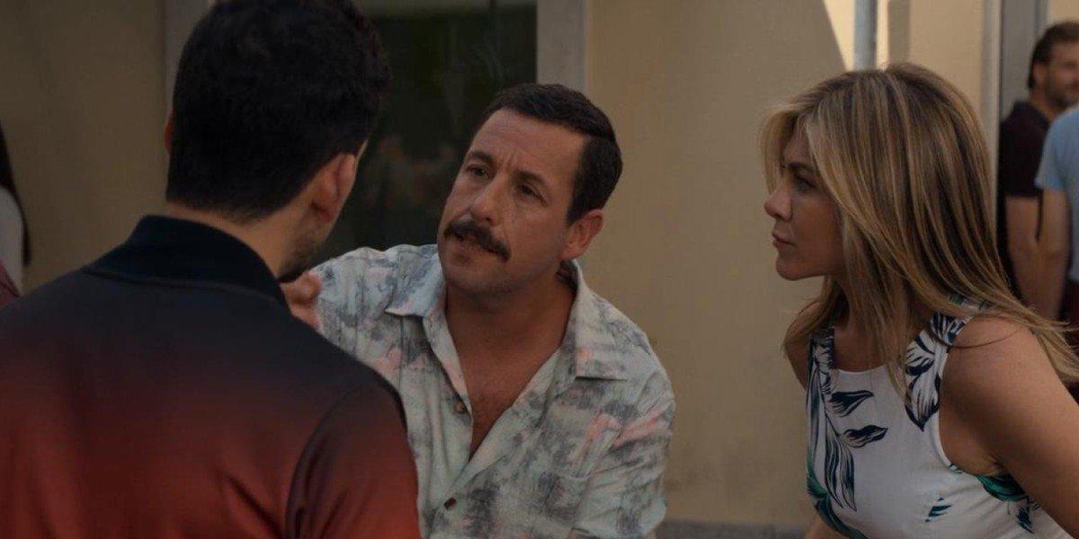 Adam Sandler and Jennifer Aniston in Murder Mystery