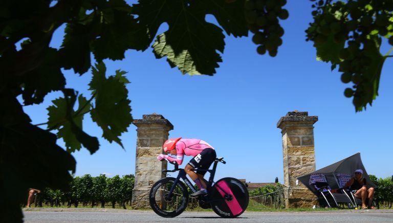 Stefan Bissegger on stage 20 of the Tour de France 2021