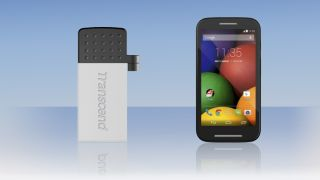 Transcend USB drive and Moto E