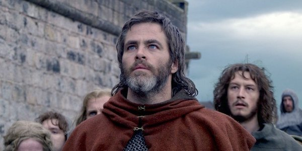 Chris Pine as Robert the Bruce in Outlaw King
