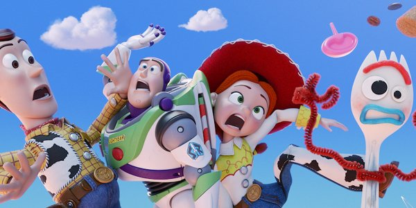 Toy Story 4 characters in the sky