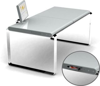 XYZ's computer desk - Apple design flair with PC functionality