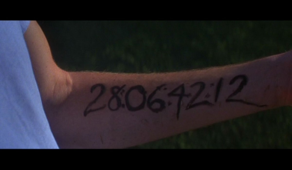 Donnie Darko the infamous timestamp written on his arm