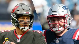 Tom Brady and Mac Jones who will play in the Buccaneers vs Patriots live stream